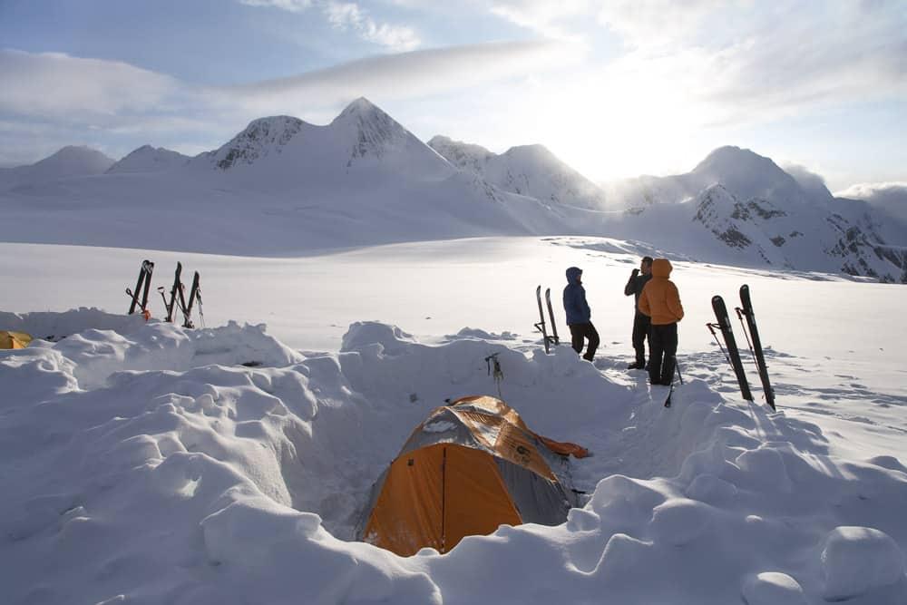 Backcountry Winter Camping in Alberta