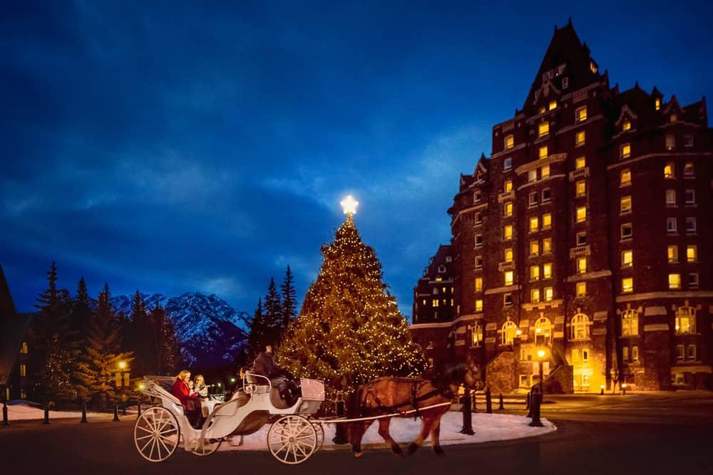 Banff Springs Hotel at Christmas