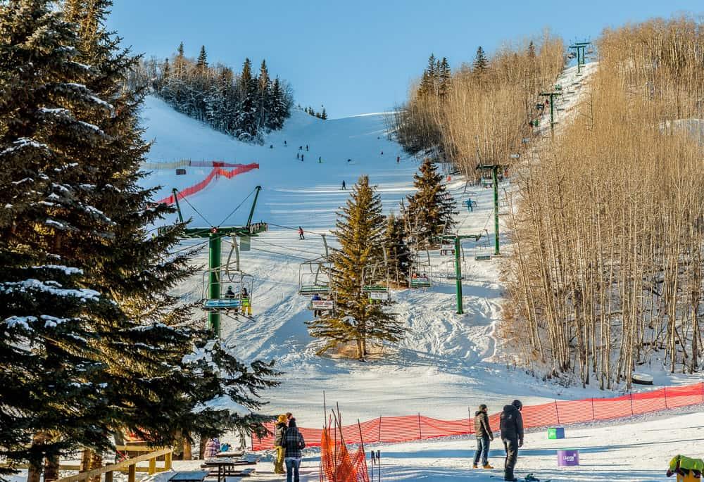 Canyon Ski Resort in Red Deer Alberta