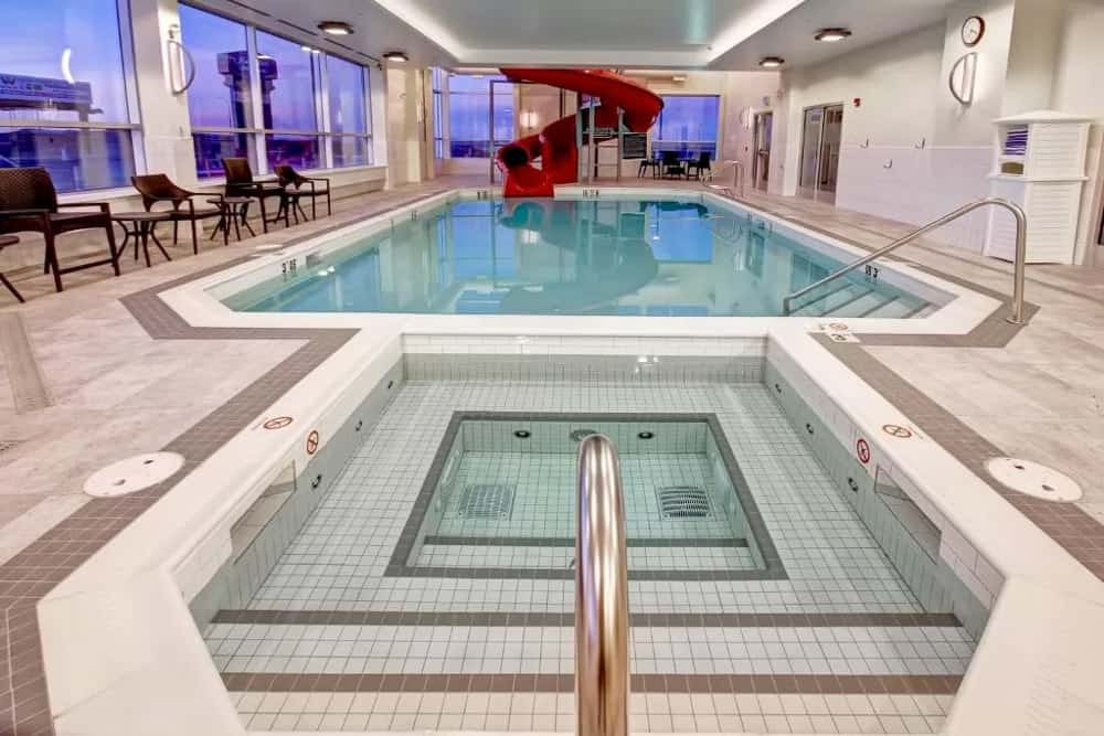 Pool area at Hampton Inn Medicine Hat
