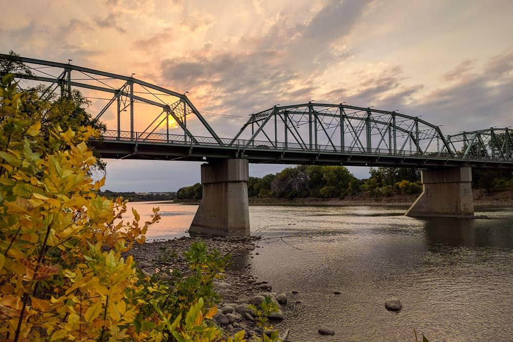 Finlay bridge in Medicine Hat, Alberta