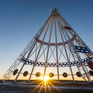 The World's largest teepee in Medicine Hat, Alberta