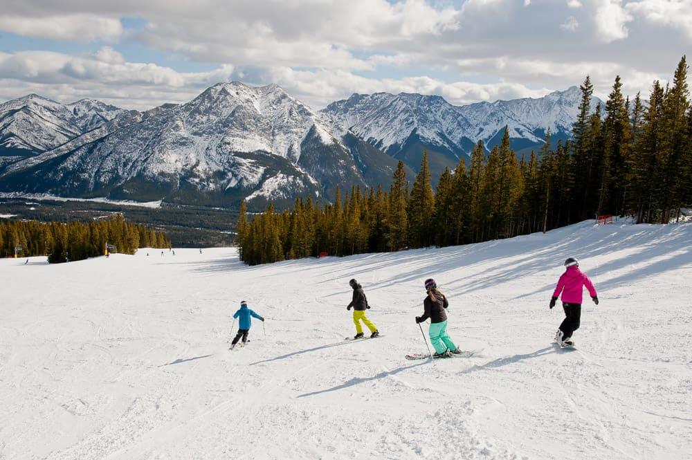 Skiing at Nakiska Ski Resort