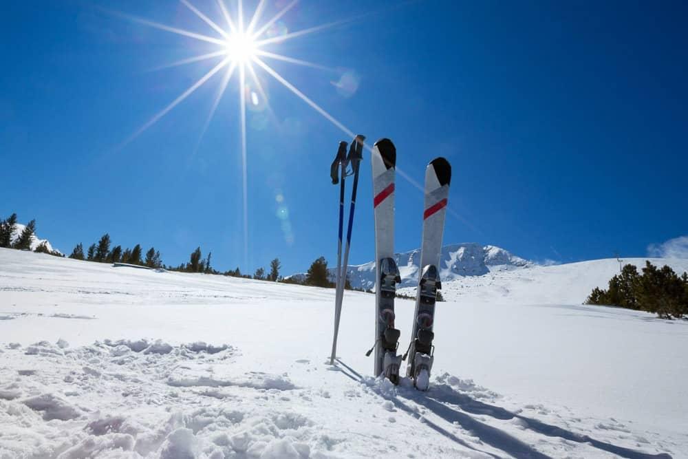 Ski Equipment in snow
