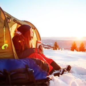 Winter Camping in Alberta