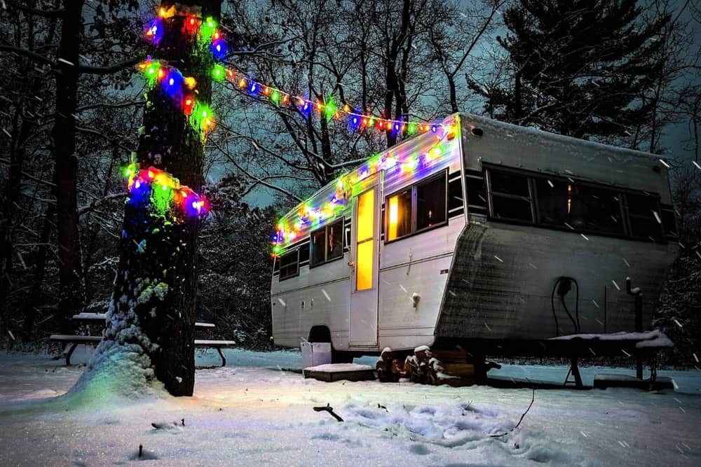 Christmas Lights on a trailer