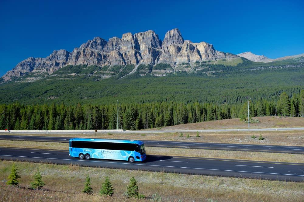 Bus to Banff, Alberta