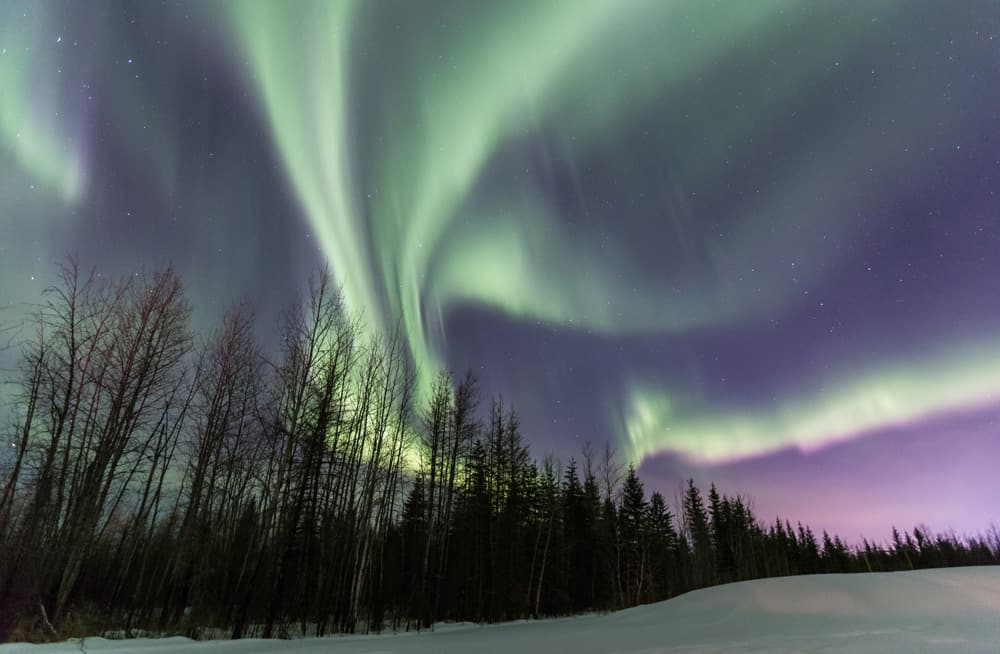Northern Lights in Fort McMurray - an Alberta natural wonder