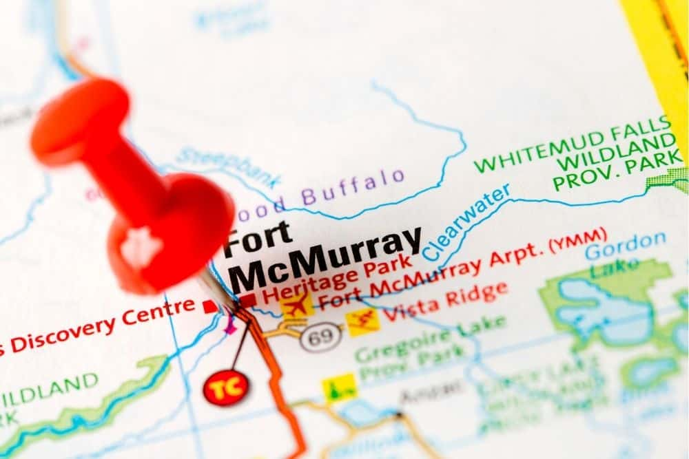 Fort McMurray Map Pin