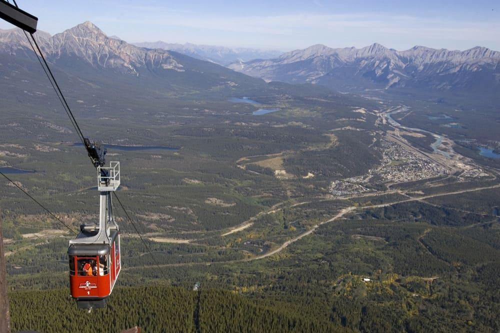 View of Jasper from the Jasper Tramway