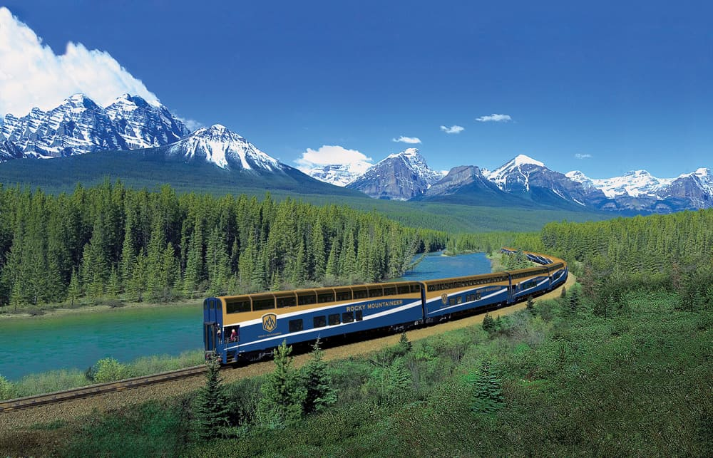 Rocky Mountaineer train in Alberta
