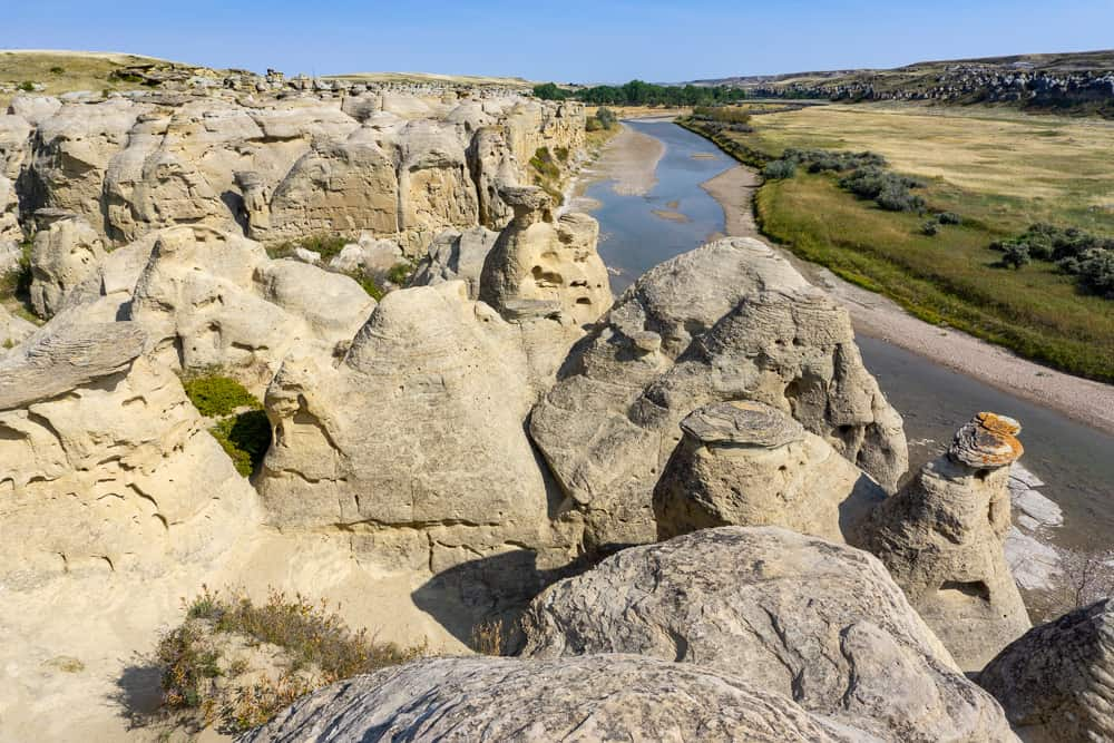 Hoodoos in Writing-on-Stone Provincial Park