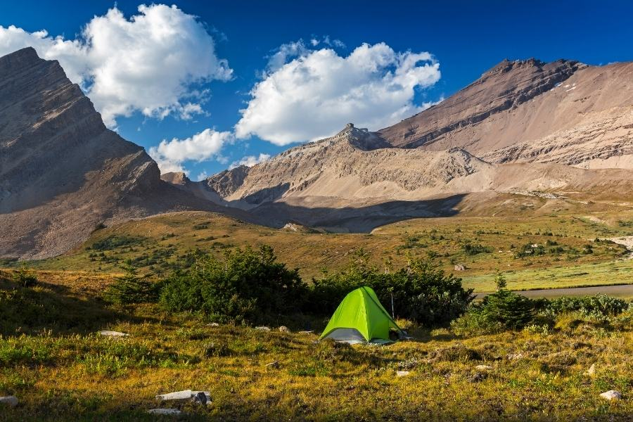 Backcountry camping in Banff National Park