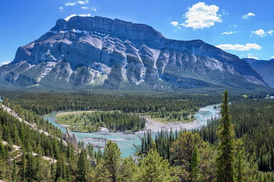 A view of Mt. Rundle from Tunnel Mountain