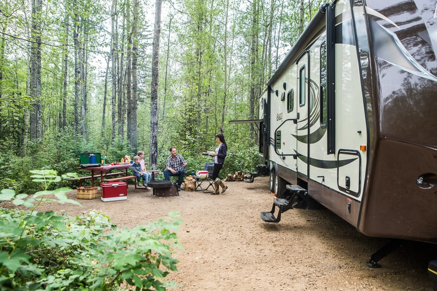 Camping in Slave Lake