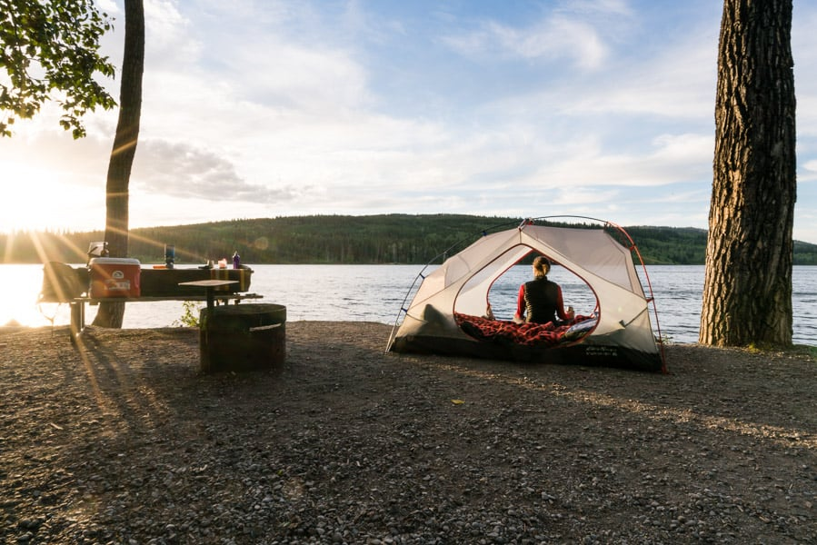 Camping in Castle Provincial Park