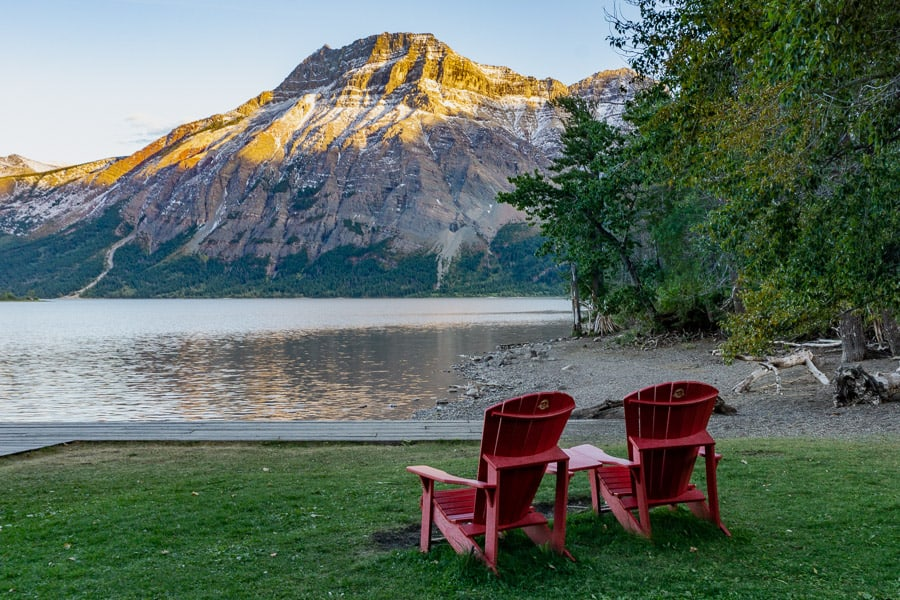 Chairs in Waterton Lakes National Park