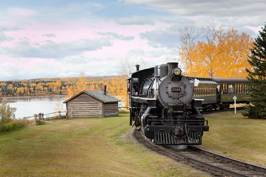 Heritage Park Historical Village steam engine train