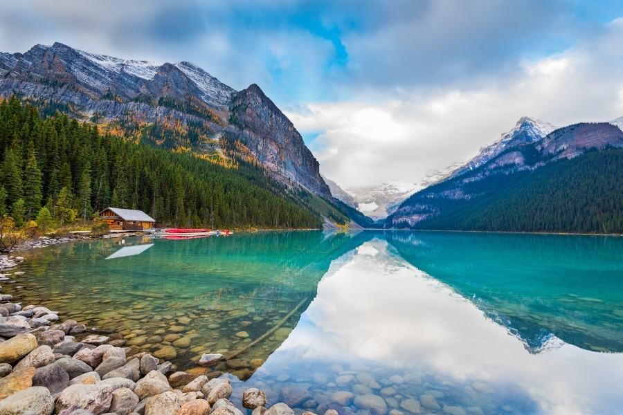 A perfect reflection at Lake Louise, Alberta