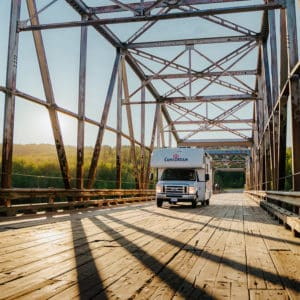 RV on Bridge in Peace Country