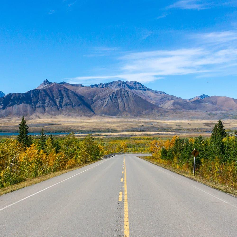 Road to Waterton Lakes National Park
