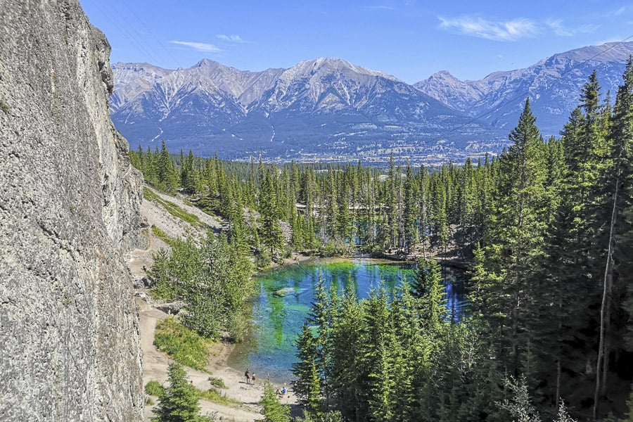 Grassi Lakes Trail near Canmore in Kananaskis