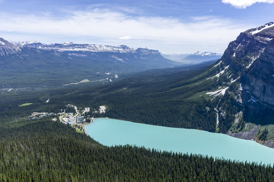 Lake Louise from Above