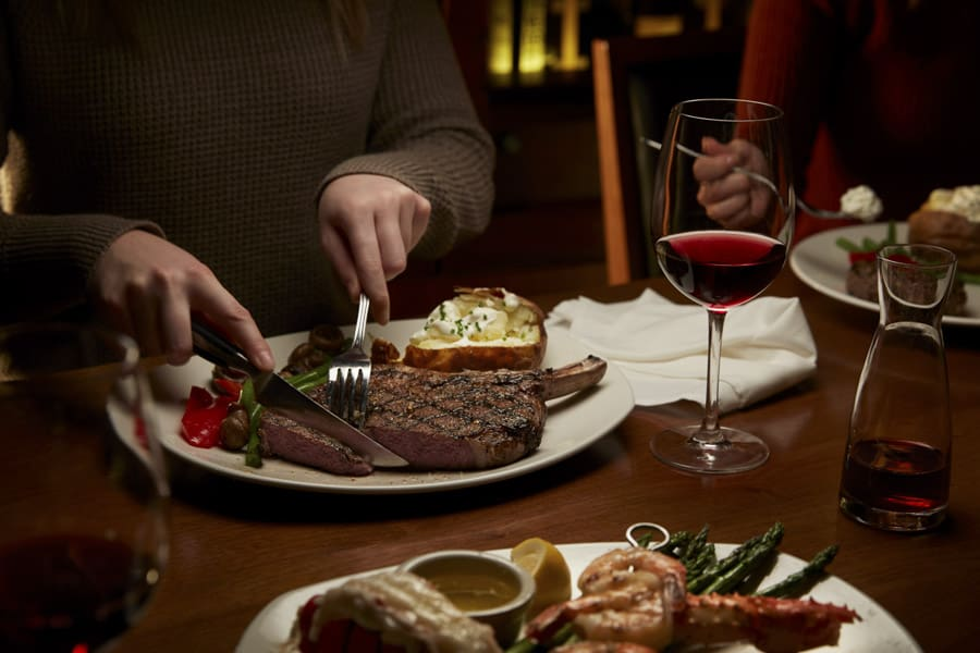 A steak dinner from The Keg