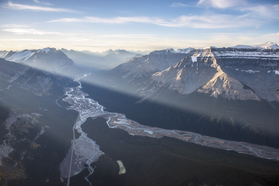 View of Banff National Park from Above