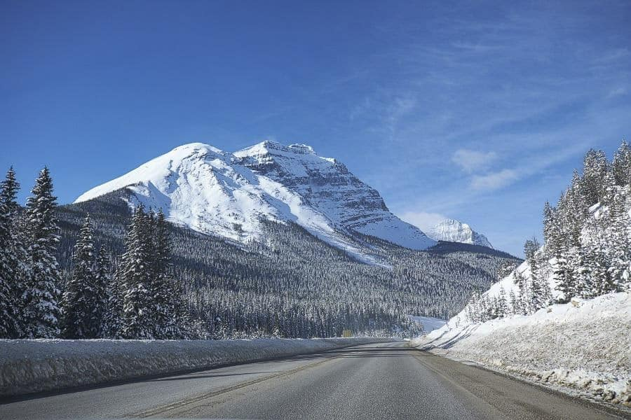 Winter roads in Banff National Park