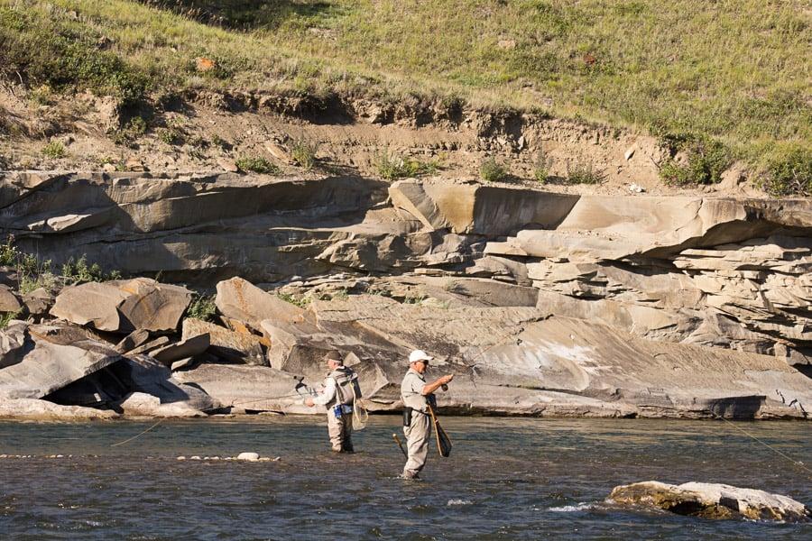 Anglers on the Oldman River