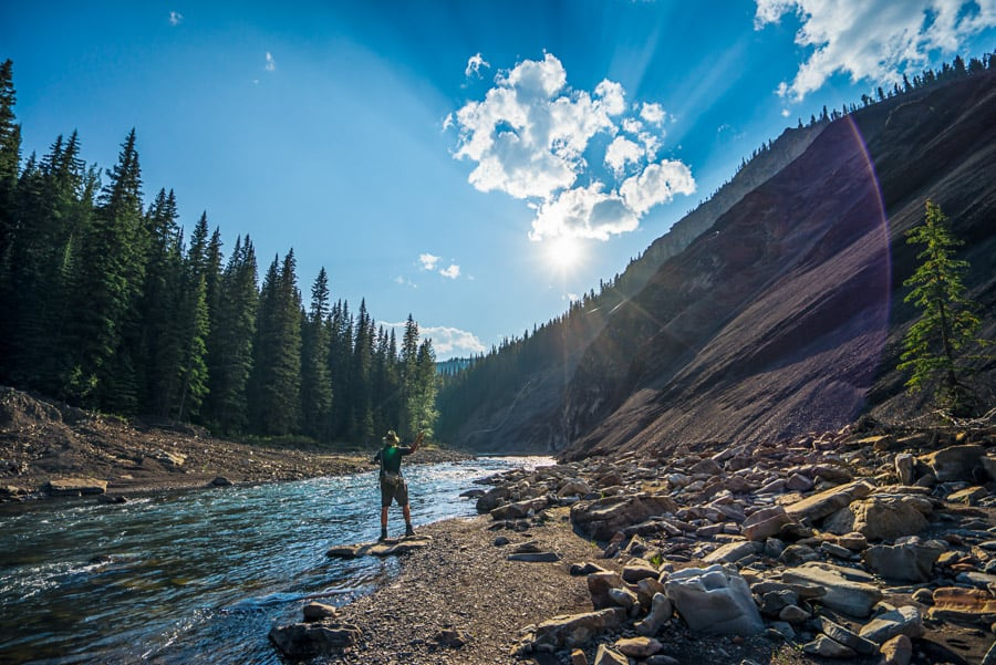 Angler at Ram Falls Provincial Park