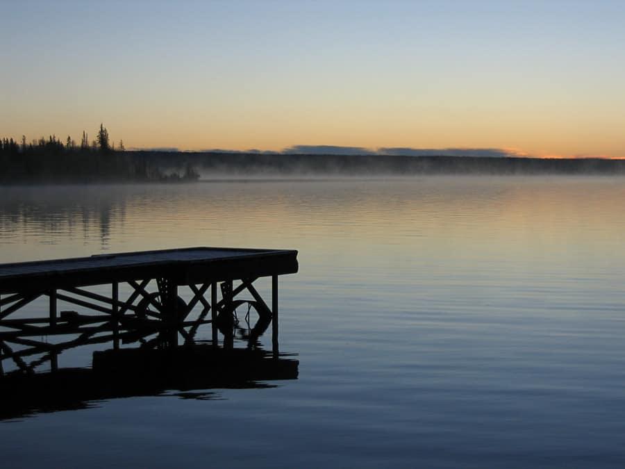 Sunset on Lac La Biche