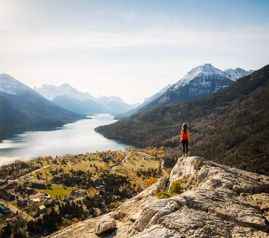 View of Waterton from Bears Hump
