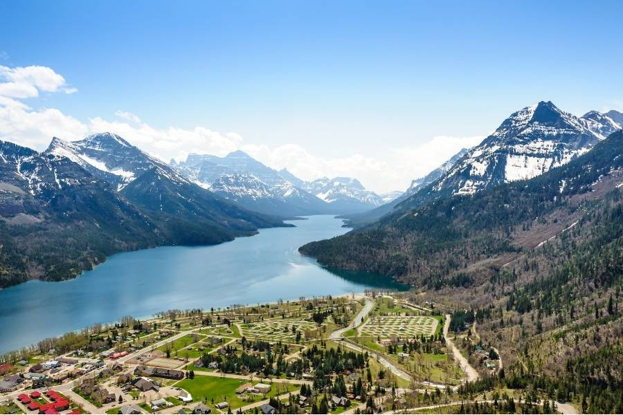 A view of the Waterton Townsite Campground