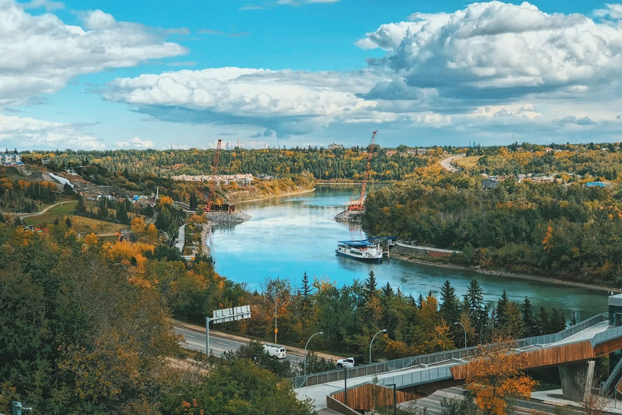 A view of the Edmonton river valley