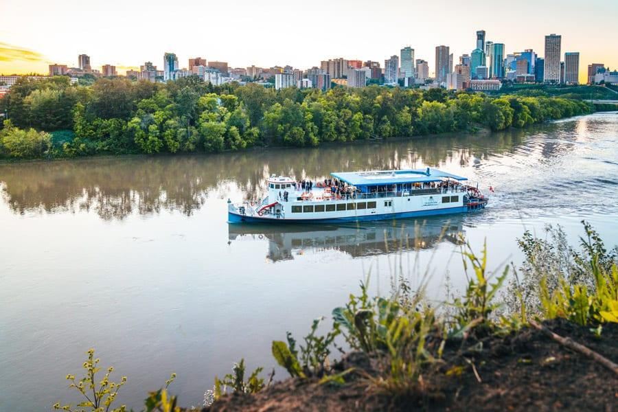 The Edmonton Riverboat in the North Saskatchewan river