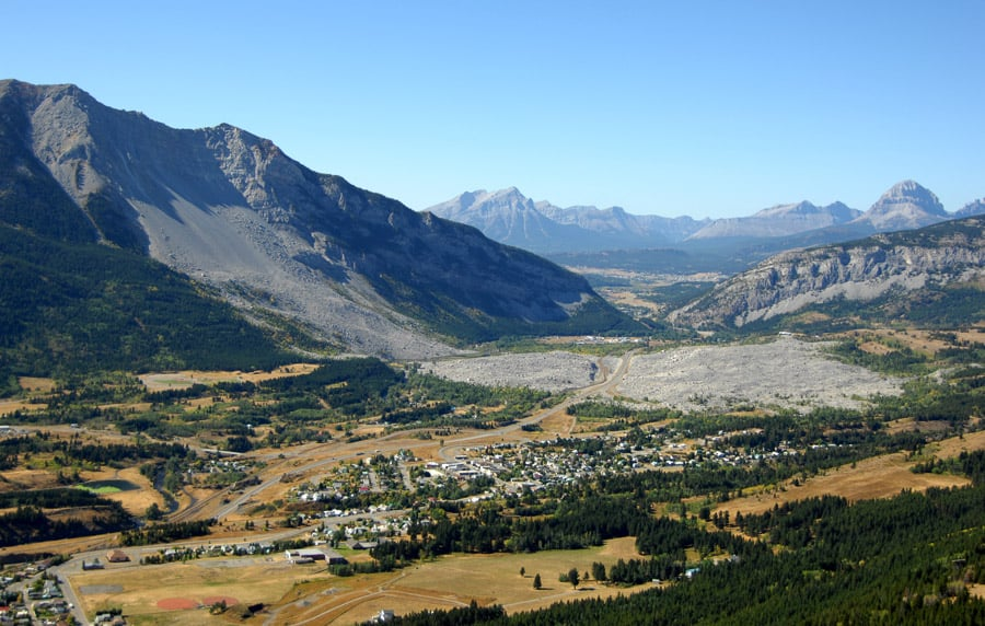 Aerial View of Frank Slide, Crowsnest Pass