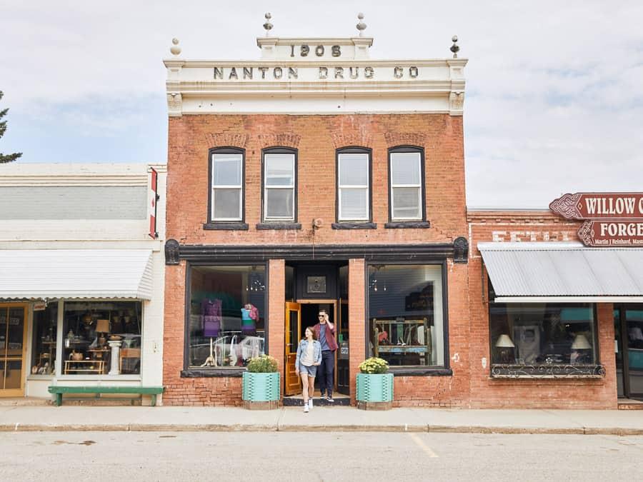 An antique shop in Nanton, Alberta