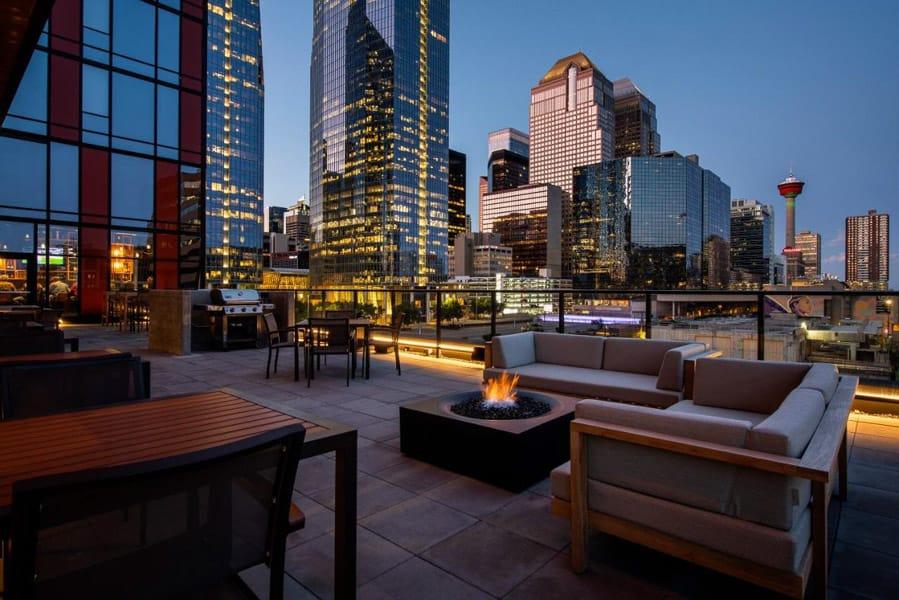Lounge patio at the Residence Inn Marriott Beltline