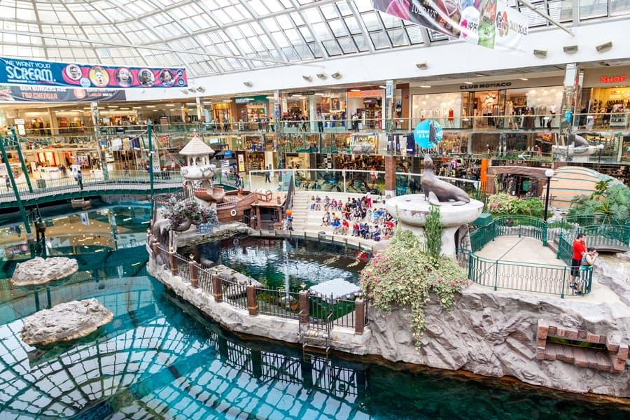 A view inside West Edmonton Mall