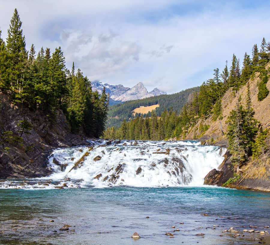 Bow Falls in Banff National Park