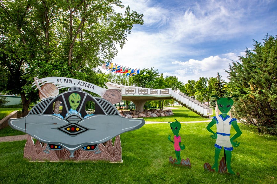 A day trip from Edmonton to see the UFO Landing Pad St. Paul, Alberta