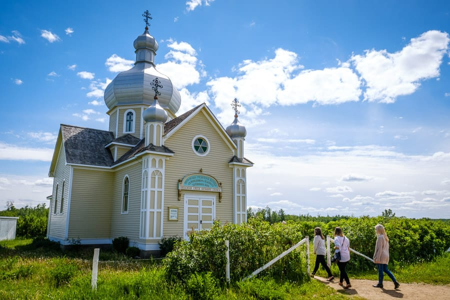 A day trip from Edmonton to see an Orthodox church at the Ukrainian Cultural Heritage Village.