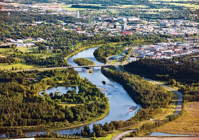 Aerial view of Red Deer, Alberta