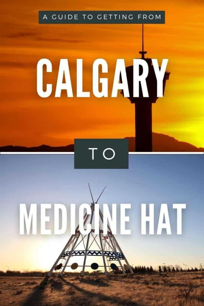 CALGARY to Medicine Hat Pin
