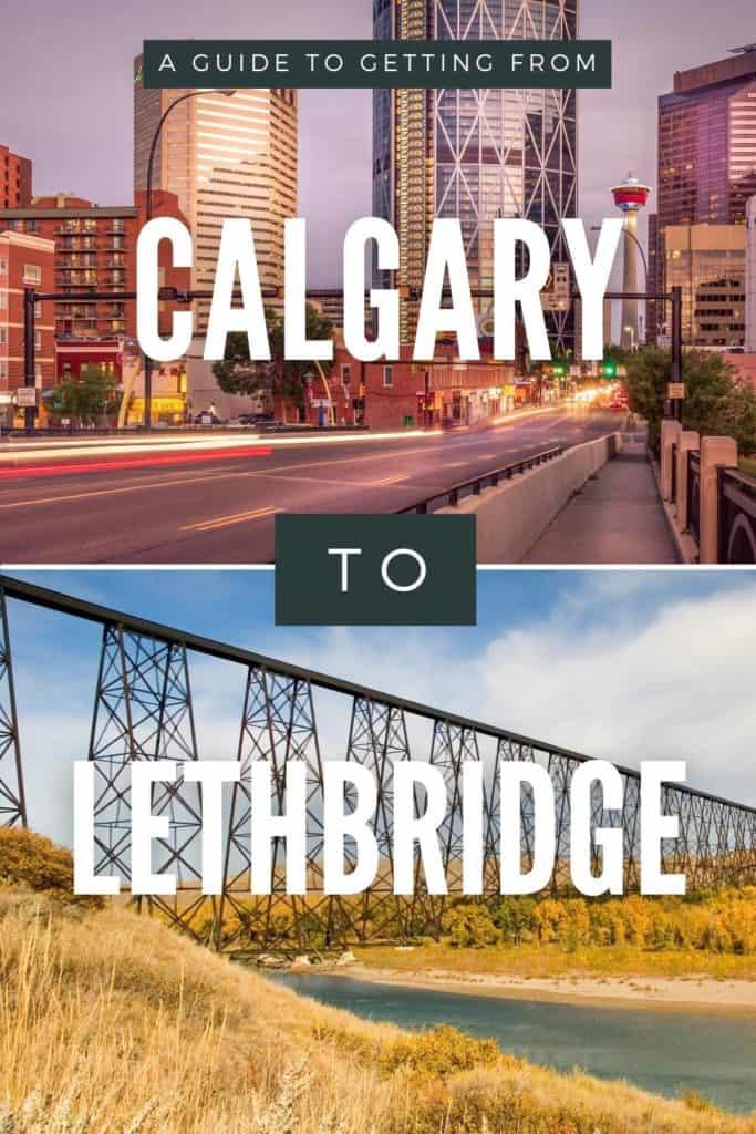 Calgary to Lethbridge - Pin