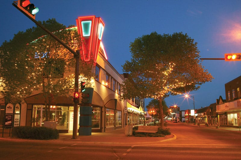 Downtown Red Deer at Night