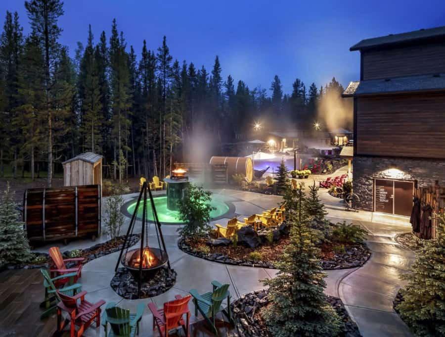 The spa at Kananaskis Mountain Lodge