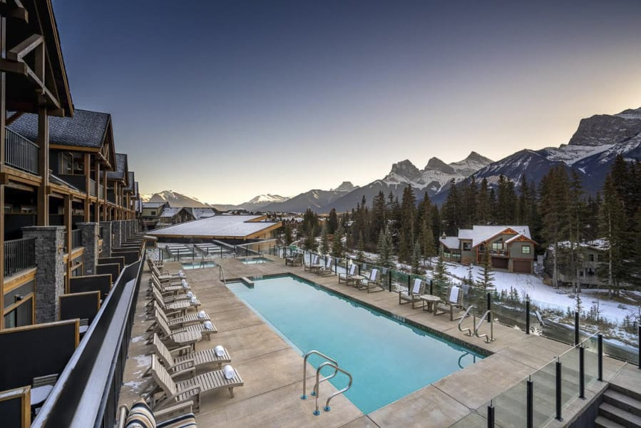 The view from Malcolm Hotel Canmore